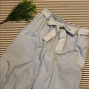 Forever 21 Wide Leg Chambray Pants